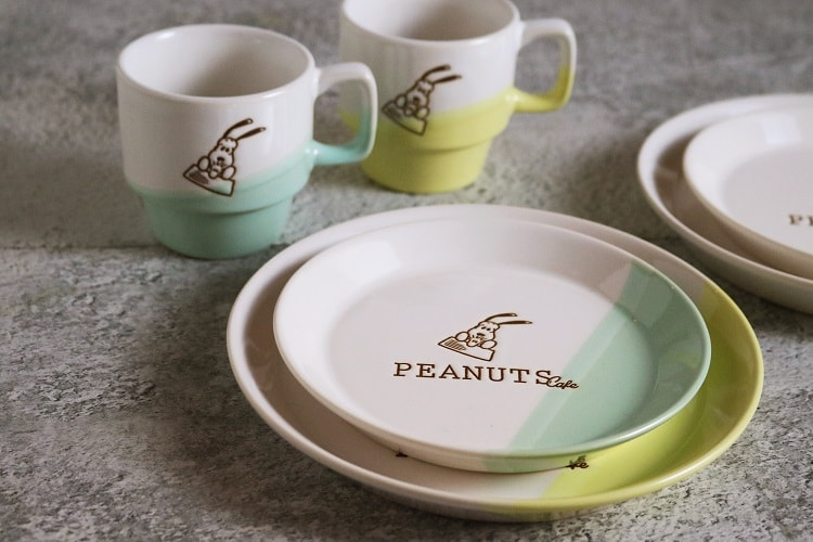 "〈PEANUTS Cafe 中目黒〉食器""ツートーンシリーズ"""