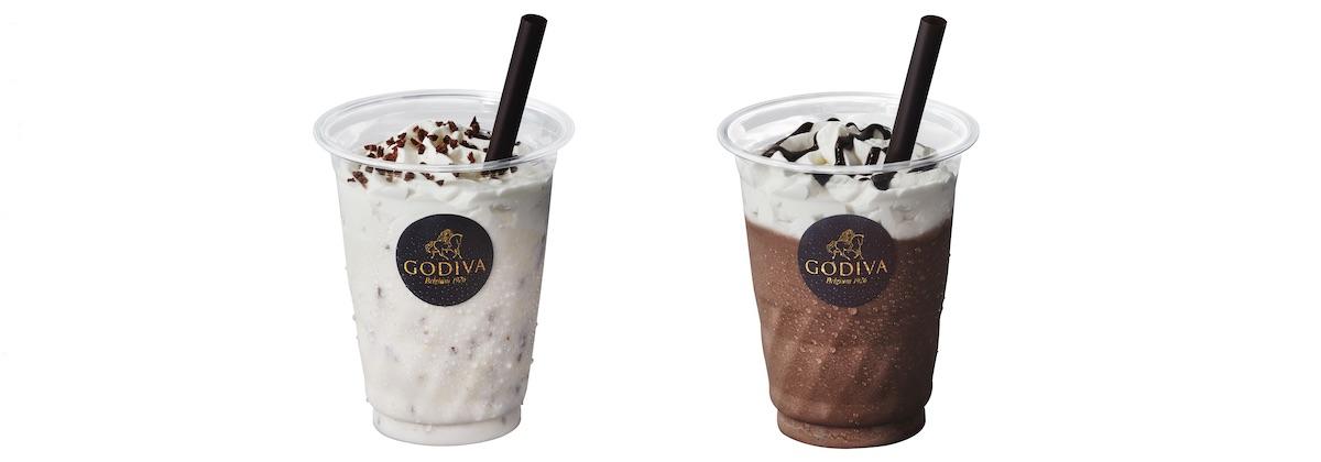 (左)ショコリキサー ホワイトチョコレート カカオ27%、(右)ショコリキサー ミルクチョコレート カカオ31% レギュラー(270ml)¥630、ラージ(350ml) ¥740、キッズ¥500 ※画像はキッズサイズ