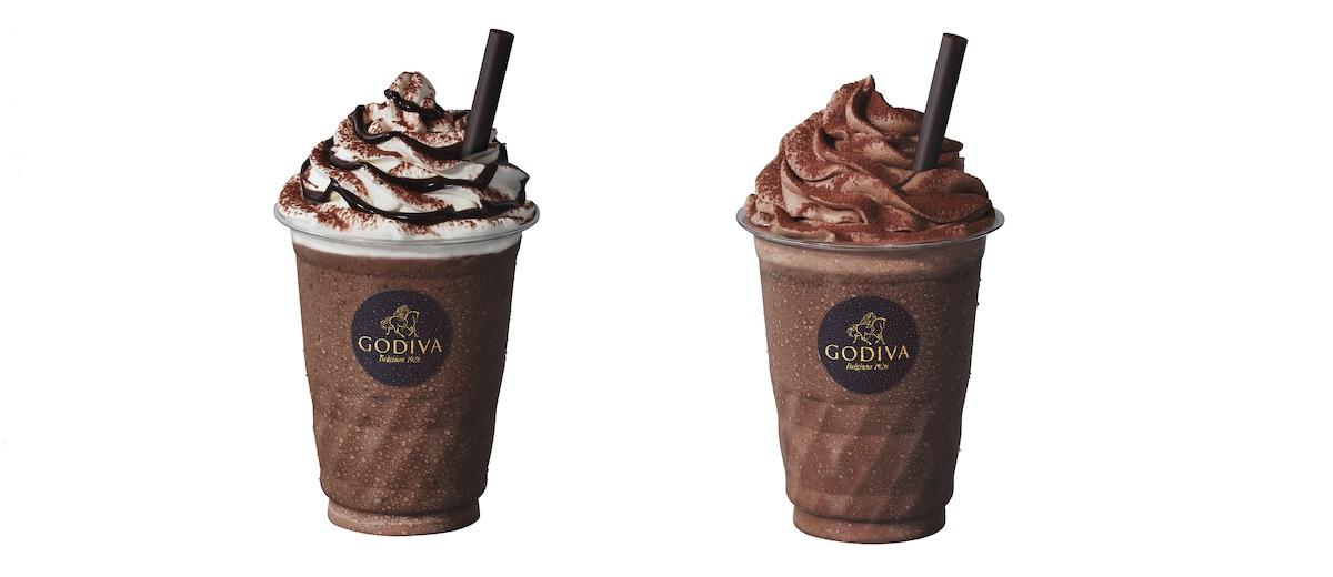 (左)ショコリキサー ミルクチョコレート カカオ50%、(右)ショコリキサー ダークチョコレート カカオ99% レギュラー(270ml)¥630、ラージ(350ml) ¥740