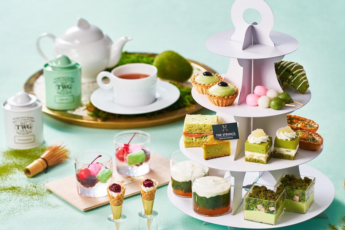 「ストリングス テイクアウト 抹茶アフタヌーンティー」 1セット2名分 ¥8,000 ※写真はイメージです。ティーカップなどの食器はセットに含まれません。