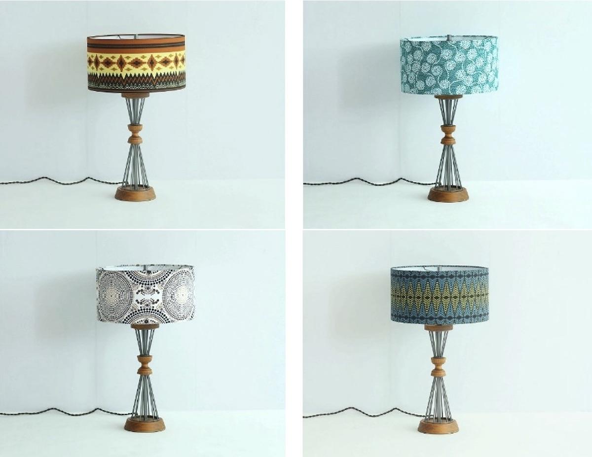 "BETHEL TABLE LAMP ""CLOUDY"" (W35×D35×H58cm) 全4種 各¥27,500"