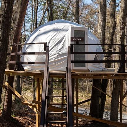 湖畔で楽しむグランピング。長野県塩尻市「グランピングベース エンキャンプ」でとっておきのアウトドア体験を