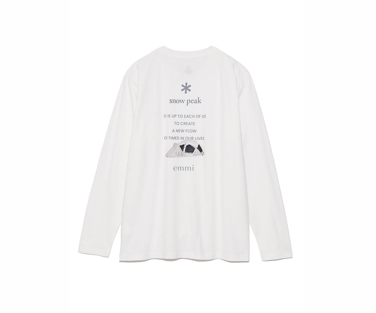 ロングスリーブTシャツはホワイトのみの展開。 ¥6,380