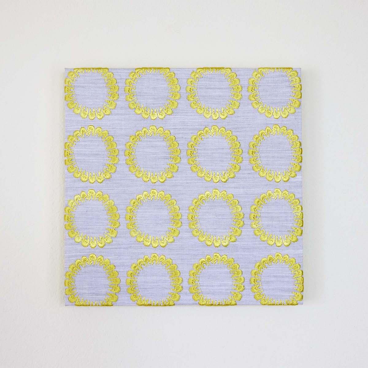 ファブリックパネル(刺繍)トウモロコシ(20×20cm) ¥7,150
