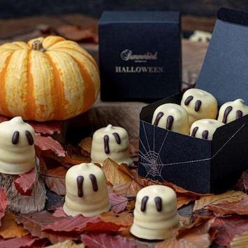サマーバード オーガニックのハロウィン限定チョコ。ファニーな姿に癒される「ハッピーゴースト クリームキス」
