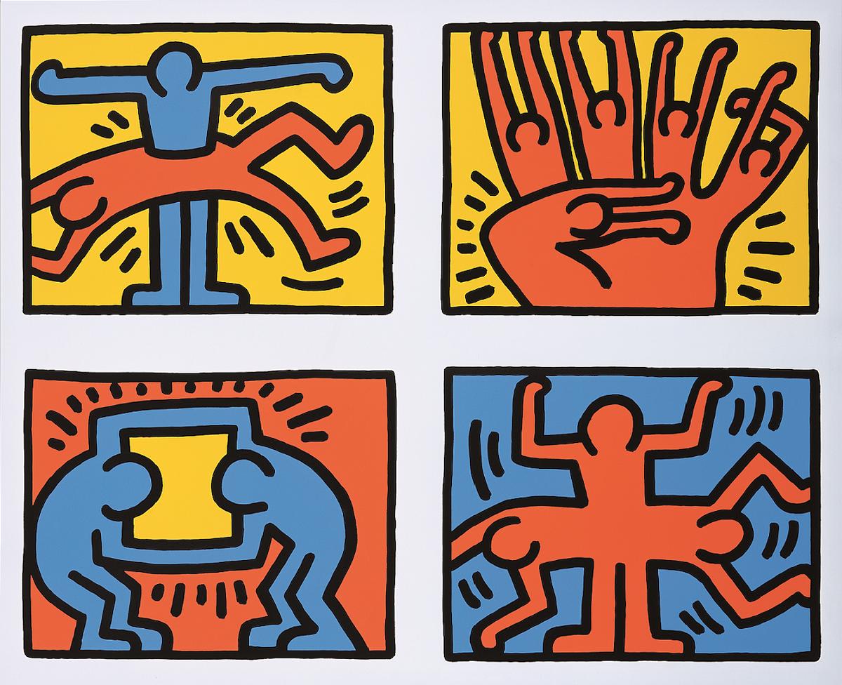 キース・へリング《ポップショップ・クワッドVI》1989年、中村キース・へリング美術館 Keith Haring Artwork ©Keith Haring Foundation Courtesy of Nakamura Keith Haring Collection.