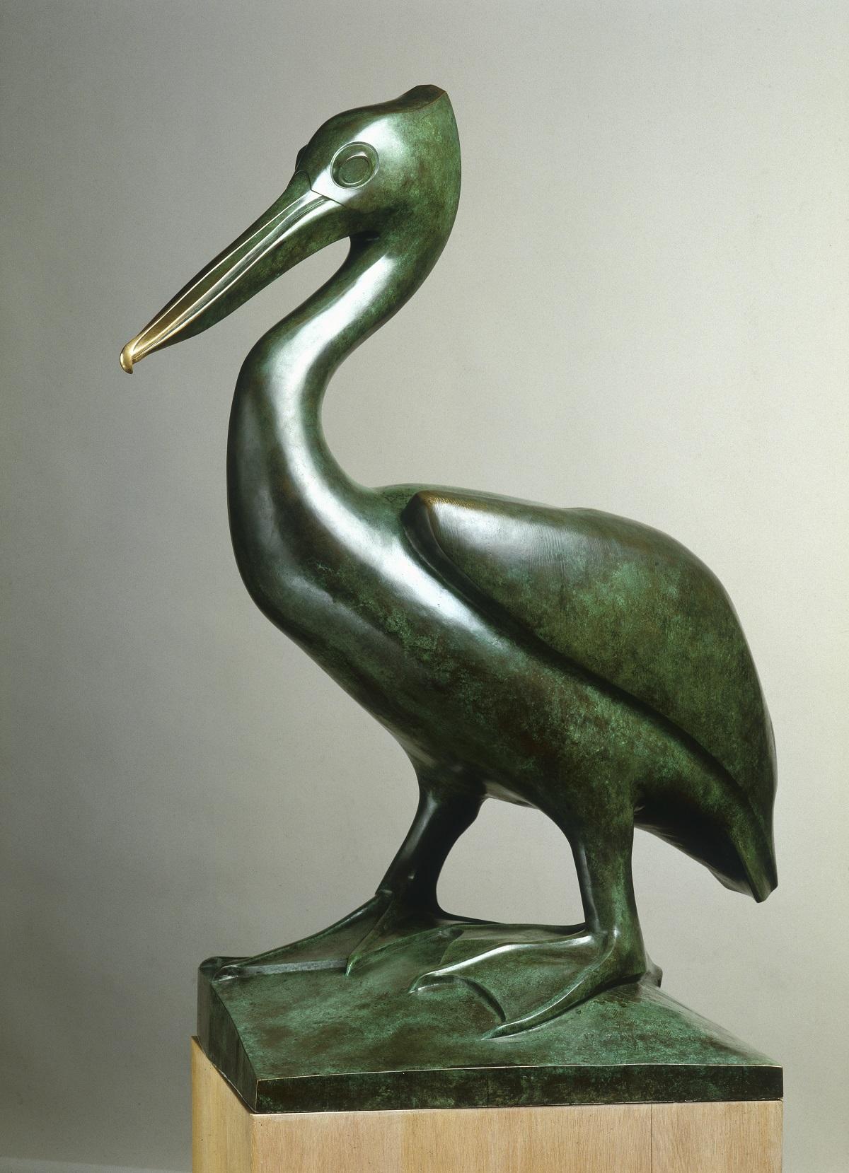 《ペリカン》 ブロンズ 1924年 ディジョン美術館蔵(国立自然史博物館寄託) © Musée des Beaux-Arts de Dijon/François Jay